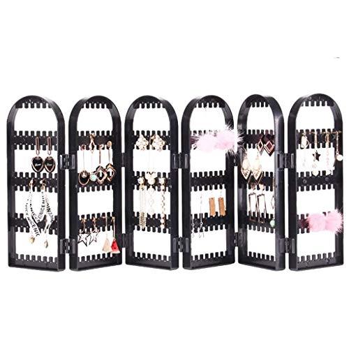 alyf Organizador Joyas Pendientes Organizador de la joyería del Soporte de exhibición de almacenaje Plegable del sostenedor del Pendiente (360 Agujeros 6 Capas) expositores joyeria (Color : White)