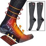 Calcetines térmicos Calcetines térmicos eléctricos USB de invierno Calentador de pies Calcetines con pilas para esquí Camping Senderismo Ciclismo Patinaje Pesca Caza