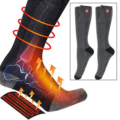 Calcetines térmicos Calcetines térmicos eléctricos USB de invierno Calentador de pies Calcetines...