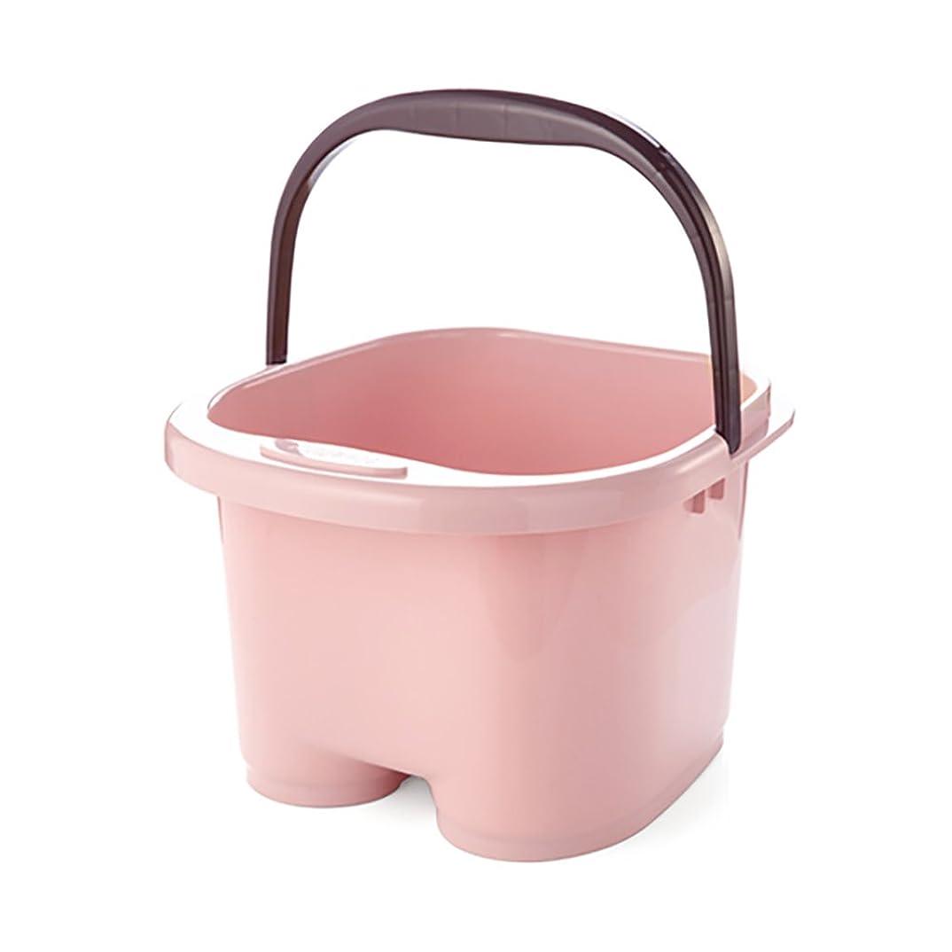 それぞれご覧ください辛い高めの足浴槽の足太いローラーマッサージ家庭用プラスチックバケツ足湯足浴槽チューバの子供や高齢者が利用可能です (Color : Pink)