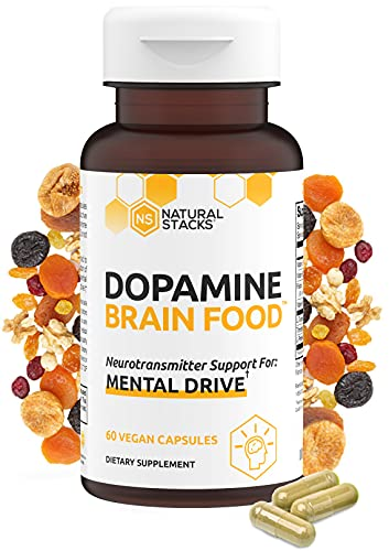 Natural Stacks Dopamine Supplement 60 ct - Boost Your Mental Drive - Formulated to Feel Alert and Engaged - L-Phenylaline and L-Tyrosine to Increase Motivation - Natural Dopamine Support