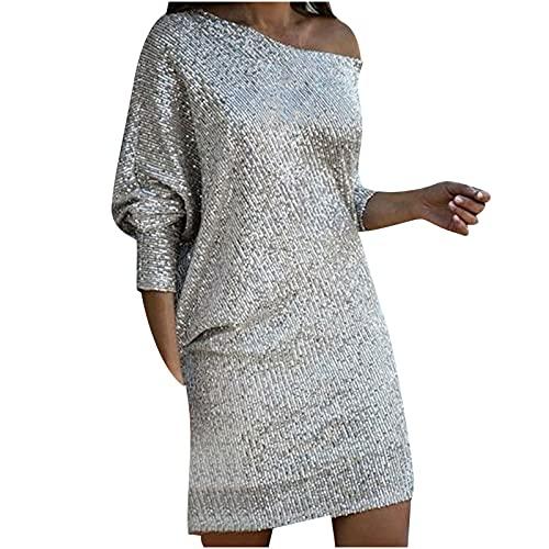 routinfly Vestido largo de la falda del vestido largo del color sólido de la honda elegante de las mujeres de la moda