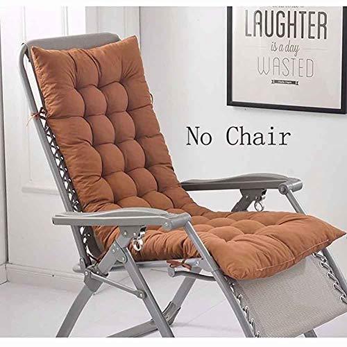Cranese Thicken Lengthen Rocking Chair Cushion,Patio Furniture Sun Chair Lounger Cushion,Folding Chair Pad,Overstuffed Bench Seat Cushion Mattress Brown 48x122cm(19x48inch)