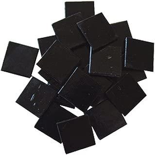 Jennifer's Mosaics 8-Ounce Black 3/4-Inch Venetian Style Glass Mosaic Tile, Black