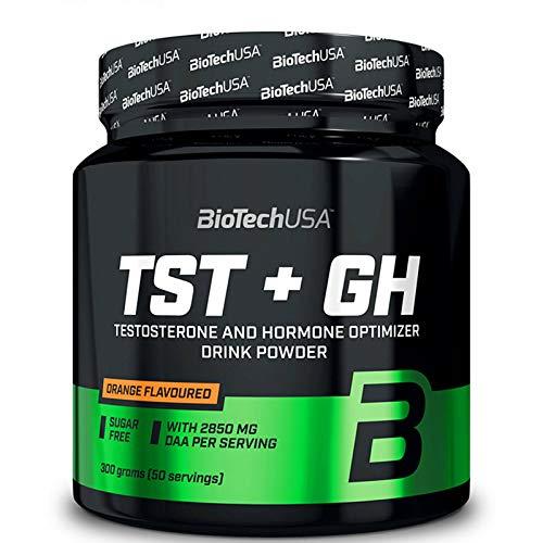 Biotech USA TST 300g | Potenciador de testosterona | Crecimiento de masa muscular | Suplemento anabólico | Apoyo hormonal | Polvo para culturismo
