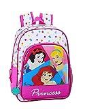 Mochila Safta Escolar Infantil Animada de Disney Princess, 260x110x340mm