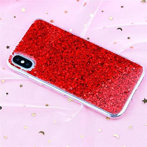 Phone 12 La caja del teléfono Compatible con iPhone 12 11 Pro X Max de lujo de la cubierta de epoxy de cristal suave Compatible con iPhone XR X 6 7 8 6s Plus SE Lentejuelas 2 Fundas Silicona