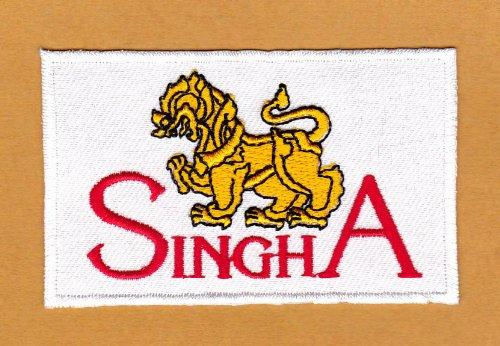 Aufnäher Bügelbild Aufbügler Iron on Patches Applikation Flagge Sponsor Wappen Thailand Singha Beer Bier Thai
