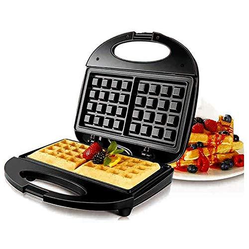 Waffeleisen,Multifunktions-Sandwichmacher,750 W,mit Antihaftplatte und Temperaturregler,kann zur Herstellung von Waffeln,Sandwiches,Mittagessen oder Desserts verwendet werden
