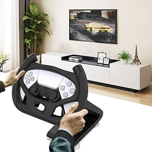 Fbewan Volante Gaming con Soporte para Playstation 5 PS5 DualSense Controller, Mando De Mango Profesional para Juegos De Carreras De Coches