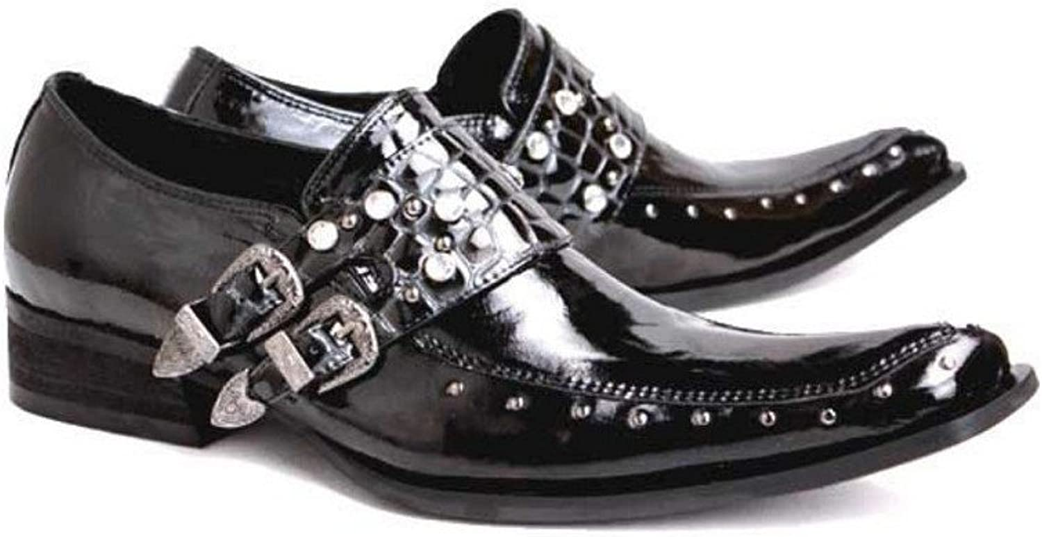 Cover Plus 2 color New Fashion Studded Leather Formal Dress Mens Slip On Loafers shoes