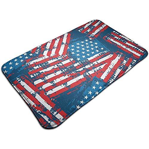 Balance-Life Amerikanische Flagge Patriotische Premium MarketPlace Matten rutschfeste Boden Eingangstürmatte Innen/Außen