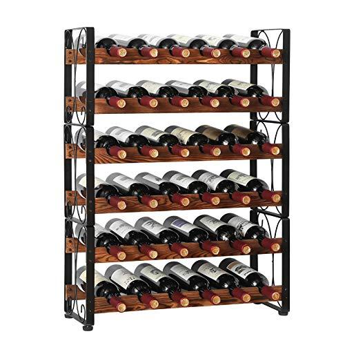 X-cosrack Stackable Rustic 36 Bottle Wine Rack