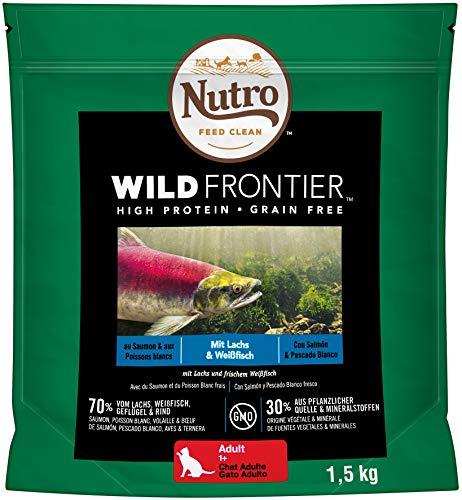 NUTRO Pienso Gato Adulto Salmón y Pescado Blanco 4 kg Wild Frontier
