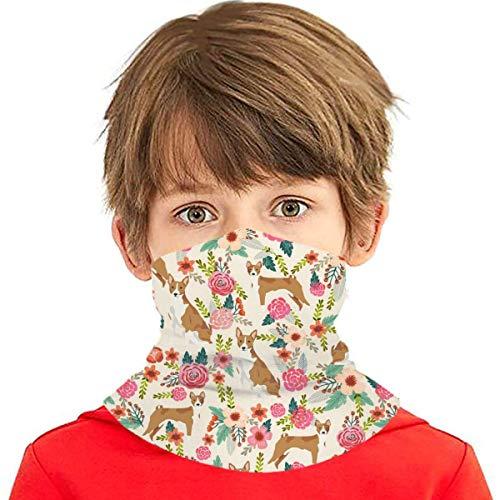 natraj album Basenji - Pañuelo multiusos para niños, niñas, protección UV, protección facial, pasamontañas, pasamontañas para verano, ciclismo, senderismo, deportes al aire libre, color crema