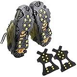 WHHHuan 1 par de 10 espigas antideslizantes para escalada de hielo y nieve con tacos de crampones para zapatos unisex de alta calidad (tamaño de zapato: XL)