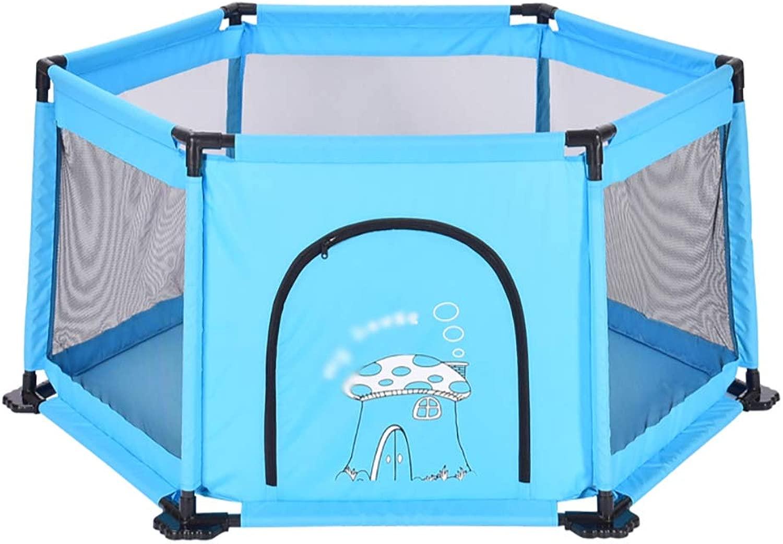 YSNUK Campo da Gioco per Bambini bambino Safety scatola (Coloree   blu)