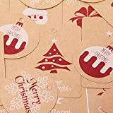 Cocobee Christmas Gift Tags for Christmas Gift Wrapping with String for Christmas Party Xmas Presents & Gifts Wrapping Accessories (6 Designs)