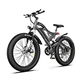 AOSTIRMOTOR Electric Mountain Bike, 750W Motor&48v 15ah Removable Lithium Battery Samsung, 26 4.0...