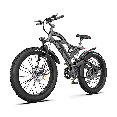 AOSTIRMOTOR Electric Mountain Bike 750W 48V15Ah Samsung Removable Lithium Battery Fat Tire Electric Bike Ebike 26 ''4.0 inch Electric Bike, Mountain Ebike for Adults