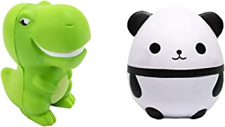 Uddiee Panda Squishies Slow Rising Dinosaur Squishy Toys,Kawaii Squeeze Stress Reliever Toys for Kids Boys