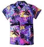 Camisa Hawaiana para Hombre, diseño de Playa y Palmeras, para la Playa, Fiestas, Verano y...