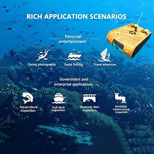 BOC Unterwasser-HD-Unmanned Schießen bewegliche bewegliche Unterwasserdrohne, 4K Kamera Dive Shooting Search and Rescue Unterwasser-Roboter, 32G Speicher 100M Kabel mit Fernbedienung, Geeignet für Un