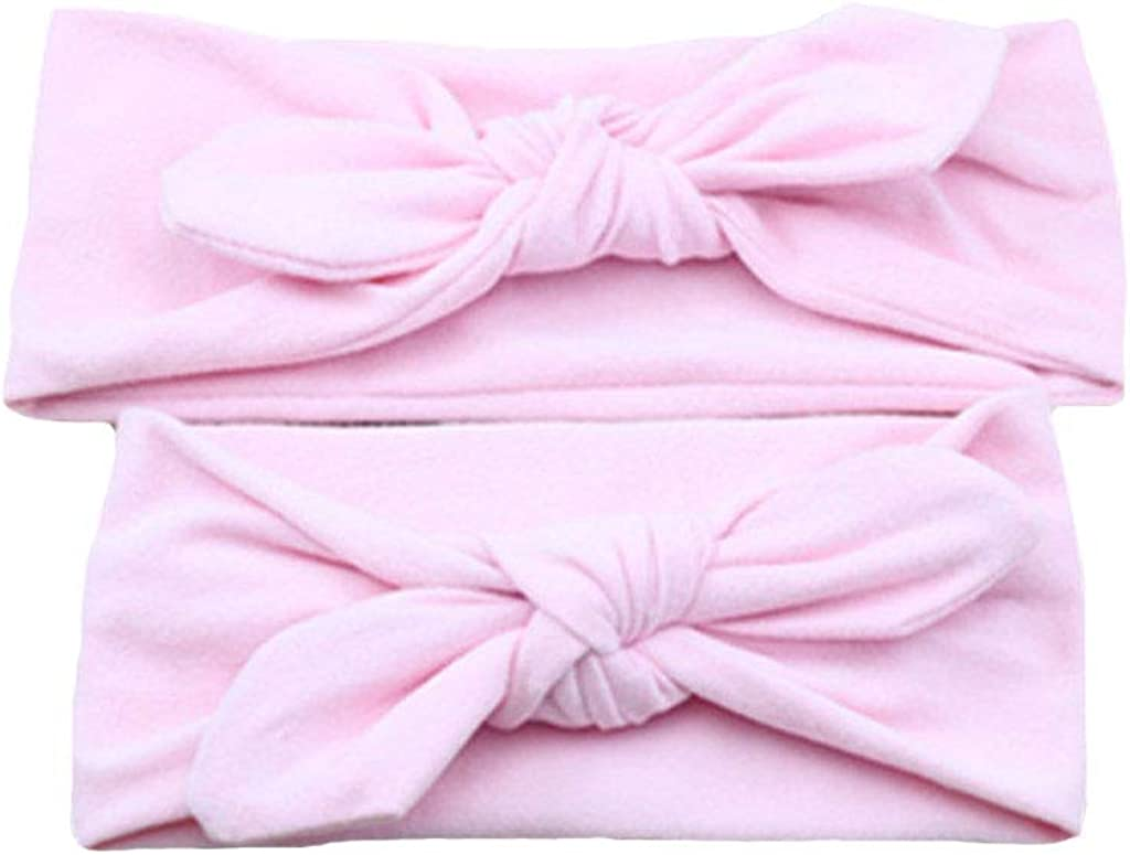 Nice Mommy and Me Headbands Set Baby Headdress Solid Women Baby Girls Mom and Baby Matching Headbands Mom n Me
