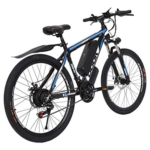 Antty Electric Bike Electric Mountain Bike 500W 26in Electric Bicycle, with Removable 10.4Ah Battery, Professional 21 Speed ??Gears