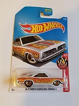 Hot Wheels 2017 HW Flames  68 Plymouth Barracuda Formula S 87/365 White