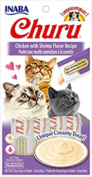INABA Ina0756 Ciao Churu Friandise Poulet/Crevette pour Chat