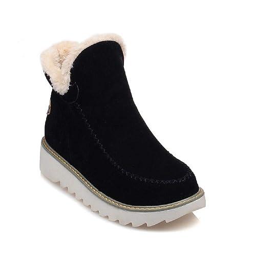 Botas Mujer Nieve Cuña Botines Fur Invierno Plataforma Calientes Cortas Casa Planas Alpargatas Tobillo Ante 3cm
