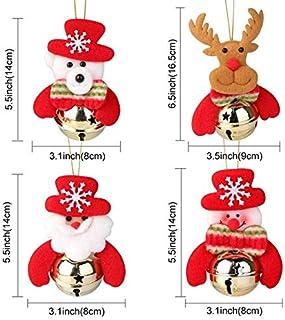 ASDFF Decoración navideña Elf Doll Plush Christmas Tree Hanging Ornament Feliz Navidad Año Nuevo Juguetes para niños 40x24cm 4 Set muñecas