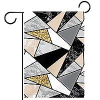 ホームガーデンフラッグ両面春夏庭屋外装飾 28x40in,ジオメトリ