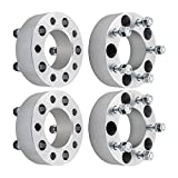 DCVAMOUS 5 Lug 2' Wheel Spacers 5x5 with 1/2' Studs for Jeep Wrangler JK 2007-2018, Jeep Commander XK 2006-2010, Jeep Grand Cherokee WJ WK 1999-2010(4PC)