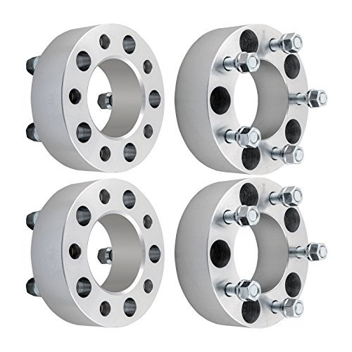 DCVAMOUS 4pc 5x5 Wheel Spacers Compatible with Jeep JK Wrangler, 2' Wheel Spacers 1/2' Studs for 2007-2018 JK Wrangler(Not for JL), 2006-2010 XK Commander, 1999-2010 WJ WK Grand Cherokee