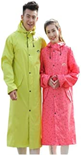 LHSY Raincoat, Men's and Women's Long Outdoor Riding, Hiking, Hiking, Fishing, Raincoat, Red, Pink, Yellow, XXL (Color : Yellow, Size : XXL)