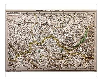 Media Storehouse 10x8 Print of Siberia - Lake of Baikal map  13591741