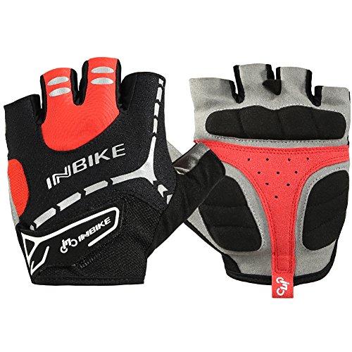 INBIKE(インバイク)サイクリンググローブ夏用 指切り (MH206-RED-XL)