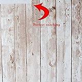 Hode Holz Folie Selbstklebend Vinyl Verbesserte Holzoptik Möbelfolie Vintage Holz Klebefolie für Möbel Küche Kommode Schrank Tisch Wasserdicht 45X300cm - 5