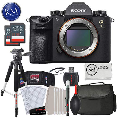 Best Price! Sony a9 Full Frame Mirrorless Interchangeable-Lens Camera (Body Only) with Deluxe Strike...