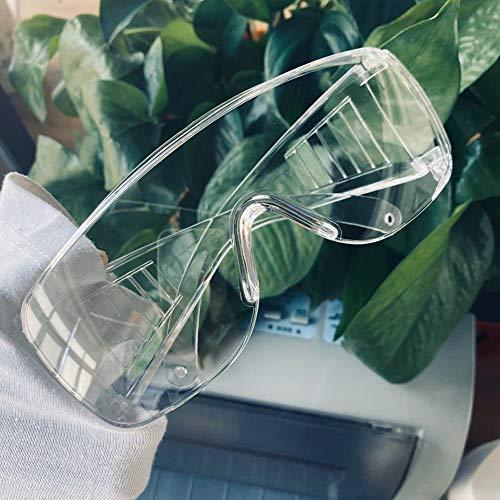 Transparent Schutzbrille - Staubdicht Anti Kratzer Winddicht Spritzfest - Arbeitsschutzbrillen - zum Chemie Labor Arbeitsplätze - Augenschutz