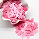 Lentejuelas mate de 10 mm, lentejuelas sueltas redondas para costura de ropa, artesanía de boda, accesorios de bricolaje para mujeres, 500 piezas 10 g / lote-rosa rojo, 10 mm 20 g