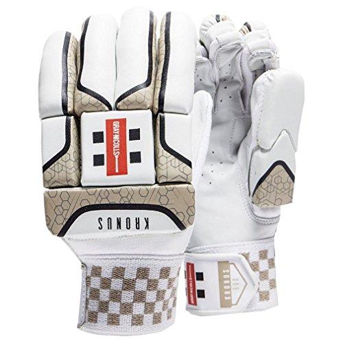 Grau-Nicolls Kronus 600 Junior Cricket-Handschuhe, Weiß, Rechte Handschuhe