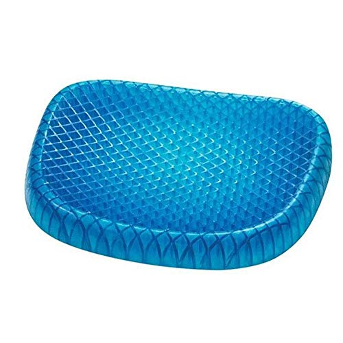 WHEEJE Stuffed Seat Cushion Gel Comfort Memory Foam Seat Cushion Non-Skid Bottom Office Chair Wheelchairs and Car Seat Pads Back & Seat Cushions (Color : Blue, Size : 39x30x3cm) Exotic