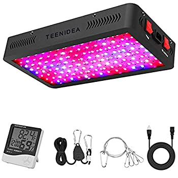 LED Grow Light Full Spectrum for Indoor Plants Veg and Flower LED Plant Growing Light Fixtures with Daisy Chain Function and Accessories  Dual Chip 10W LED   1200W