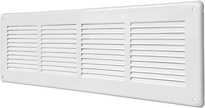 La Ventilazione BMR140B Grille de ventilation rectangulaire blanche avec filet anti-insectes et ressorts dimensions 175 x 146 mm