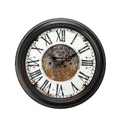 Deco De Ville Antique Vintage Retro Decorative European Design Creative Rustic Style Metal Round Wall Clock