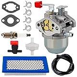0C1535ASRV Carburetor 78601 Air Filter Kit for Generac 4000XL Parts 4000 EXL Nikki 97747 C1535 GN220 GH220HS W436BRE T44 35PDS396829 0C1535AESV Sears Troy Built Portable 7.8HP Generators…