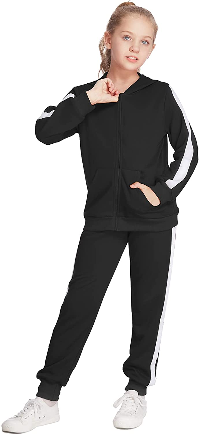 Boyoo Portland Mall Girls 2PCS Tracksuit Popular brand in the world Athletic Hoode Zip-up Sets Sweatsuits